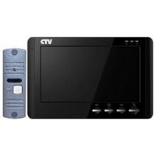 Комплект видеодомофона CTV-DP1700M (цвет черный)
