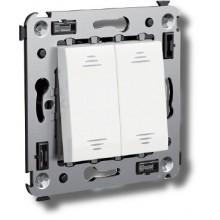 Выключатель Выключатель двухклавишный в стену Avanti черный квадрат (4402104)