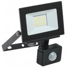 Прожектор светодиодный с датчиком движения СДО 06-20Д черный IP54 6500K (LPDO602-20-65-K02)