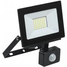 Прожектор светодиодный с датчиком движения СДО 06-30Д черный IP54 6500K (LPDO602-30-65-K02)