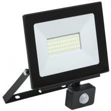 Прожектор светодиодный с датчиком движения СДО 06-50Д черный IP54 6500K (LPDO602-50-65-K02)
