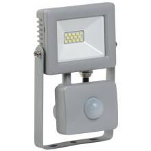 Прожектор светодиодный с датчиком движения СДО 07-10Д серый с ДД IP44 (LPDO702-10-K03)