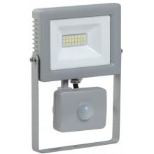 Прожектор светодиодный с датчиком движения СДО 07-20Д серый с ДД IP44 (LPDO702-20-K03)