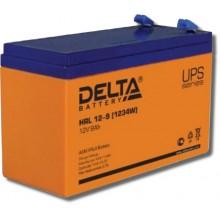 Аккумулятор герметичный свинцово-кислотный Delta HRL 12-9 X (1234W)