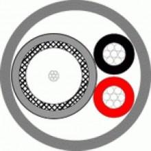 Кабель комбинированный для систем видеонаблюдения КВК-В+2х0,5