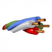 Провод кроссовый станционный с изоляцией из поливинилхлоридного пластиката ПКСВ 4х0,5