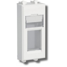 Адаптер Адаптер для keystone Avanti, 1 модуль белое облако (4400201)