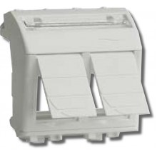Адаптер для информационных разъемов Адаптер для двух информационных разъемов Keystone, 2 модуля (76614B)
