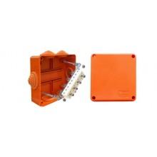 Коробка монтажная огнестойкая без галогена Коробка JBS100 шестиполюсная (0,15…2,5 мм²) 100х100х55 (43017HF)