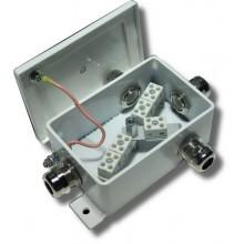 Коробка монтажная огнестойкая КМ-О (10к)-IP66-d четыре ввода