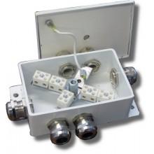 Коробка монтажная огнестойкая КМ-О (10к)-IP66-d шесть вводов