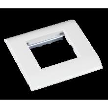 Лицевая панель под 1 вставку Mosaic, 45x45, с подрамником EC-FPM-1-WT-10