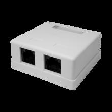 Компьютерная розетка Компьютерная розетка 8P8C (RJ-45) UTP Cat.5e 2 порта (10-0309)