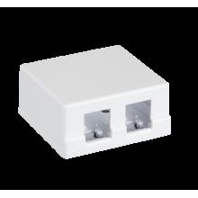 Корпус настенной розетки EC-UWO-2KJ-WT-10 (10шт)