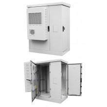 Шкаф всепогодный напольный укомплектованный ШТВ-2-18.10.6-К3А3-ТК