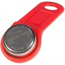 Ключ электронный Touch Memory с держателем DS 1990А-F5 (красный)