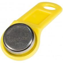 Ключ электронный Touch Memory с держателем DS 1990А-F5 (желтый)