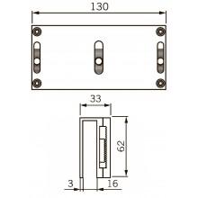 U-образный кронштейн UBG-10/12 для EMC 400 AH