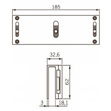 U-образный кронштейн UBG-10/12 для EMC 600 ALH