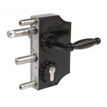Замок механический для калиток LAKQ4040 H2L (цвет: RAL 9005, черный)