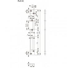 Запорная планка длинная FLH24