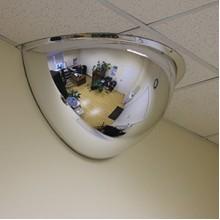 Зеркало купольное потолочное D=1000х360 (1/2)
