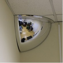 Зеркало купольное потолочное D=1000х360 (1/4)