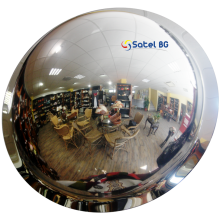 Зеркало купольное потолочное D=600х360