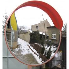 Зеркало круглое уличное с козырьком E 80 с козырьком