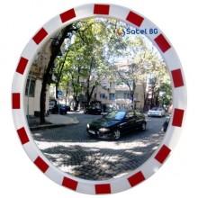 Зеркало круглое уличное с отражающей окантовкой TR-80