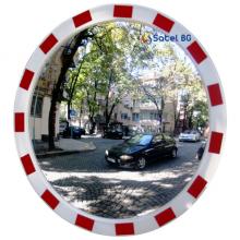 Зеркало круглое уличное с отражающей окантовкой TR-90
