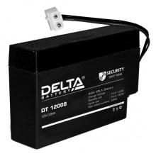 Аккумулятор герметичный свинцово-кислотный Delta DT 12008 (Т9)