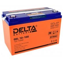 Аккумулятор герметичный свинцово-кислотный Delta GEL 12-100