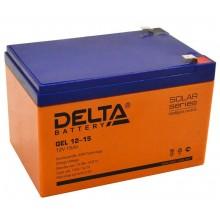 Аккумулятор герметичный свинцово-кислотный Delta GEL 12-15