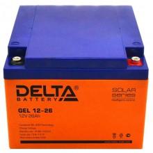 Аккумулятор герметичный свинцово-кислотный Delta GEL 12-26