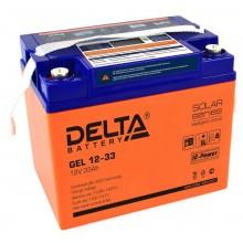 Аккумулятор герметичный свинцово-кислотный Delta GEL 12-33