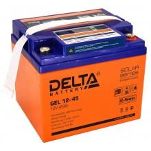 Аккумулятор герметичный свинцово-кислотный Delta GEL 12-45
