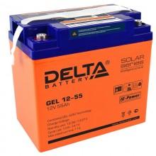 Аккумулятор герметичный свинцово-кислотный Delta GEL 12-55