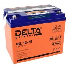 Аккумулятор герметичный свинцово-кислотный Delta GEL 12-75