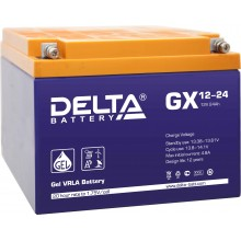 Аккумулятор герметичный свинцово-кислотный Delta GX 12-24