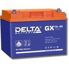 Аккумулятор герметичный свинцово-кислотный Delta GX 12-45