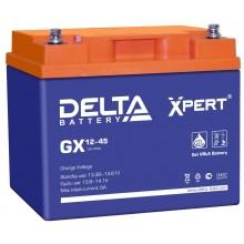 Аккумулятор герметичный свинцово-кислотный Delta GX 12-45 Xpert