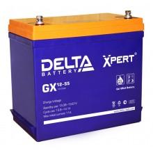 Аккумулятор герметичный свинцово-кислотный Delta GX 12-55 Xpert