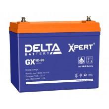 Аккумулятор герметичный свинцово-кислотный Delta GX 12-60 Xpert