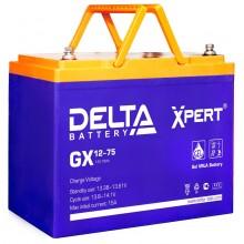 Аккумулятор герметичный свинцово-кислотный Delta GX 12-75 Xpert