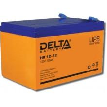 Аккумулятор герметичный свинцово-кислотный Delta HR 12-12