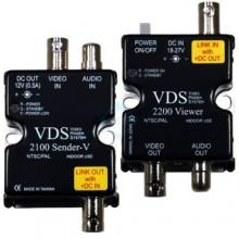 Удлинитель видео-, аудиосигнала, напряжения питания по коаксиальному кабелю VDS 2100/2200
