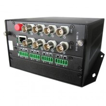 Комплект оптический приемник-передатчик видеосигнала NT-D802A2BE-4TK-20