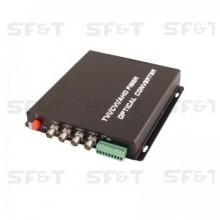 Передатчик 4-канальный по оптоволокну SF42S5T/HD