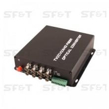 Передатчик 8-канальный по оптоволокну SF82NS5T/HD